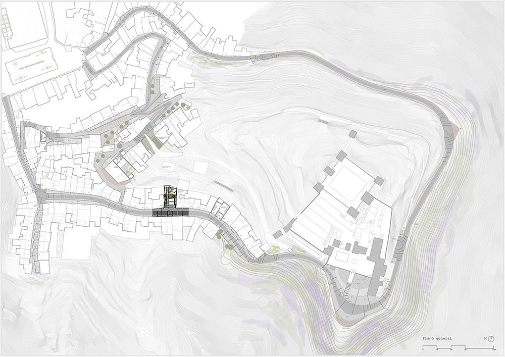 Figura 2. Planta general del proyecto. En negrita la Fase I (Compás de las Ánimas y del Nazareno)