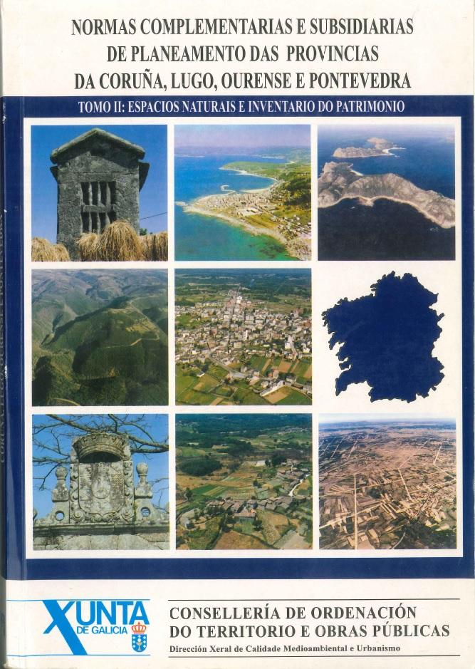 Figura 2. Portada de las Normas complementarias y subsidiarias de planeamiento de las provincias de A Coruña, Lugo, Ourense y Pontevedra