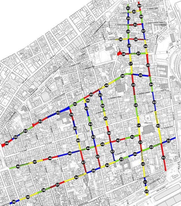 Fig. 2 Plano de tramos del ámbito del proyecto