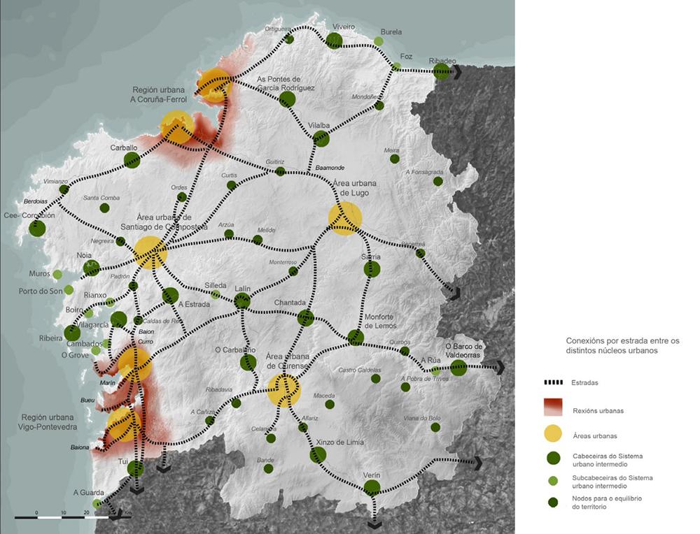 Figura 8. Mapa de diferenciación de asentamientos incluido en las Directrices de Ordenación del Territorio.