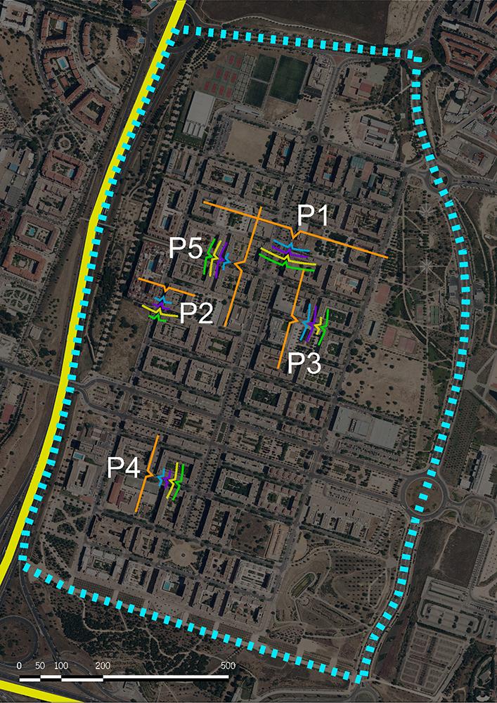 Figuras 11 y 12. A la izquierda, plano de conteo de Valdebernardo. A la derecha, plano estancial del viernes de Valdebernardo. (Elaboración propia, 2017).