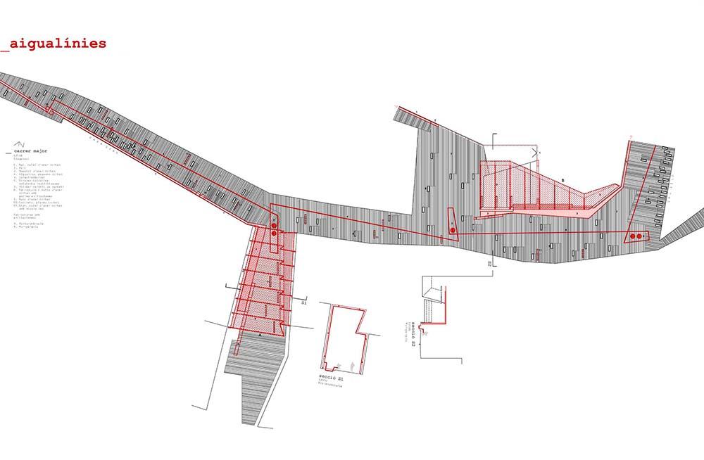 Figura 11. Ordenación de detalle de la propuesta en la calle Major.