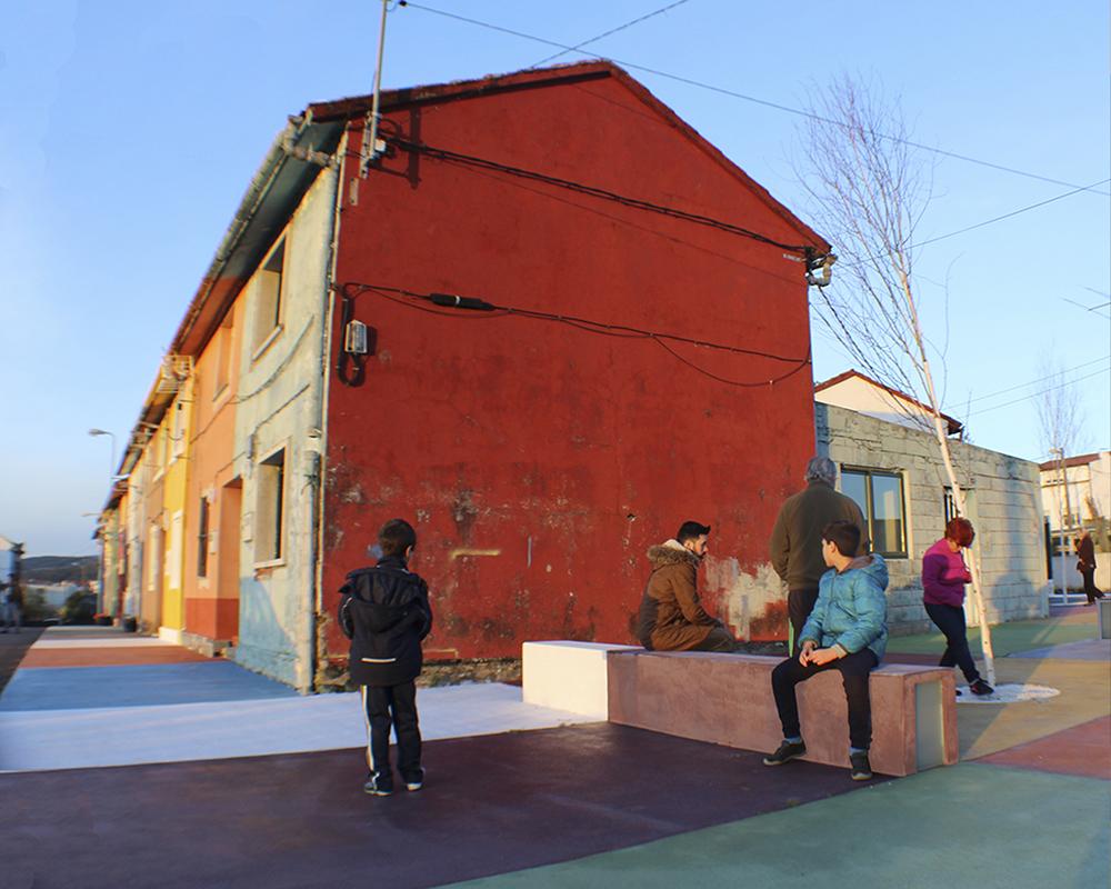 Figura 12. Imagen de un espacio de estar tras la intervención. Fuente: Martín Insua Calvo + José Barreiro Carreño (arquitectos)