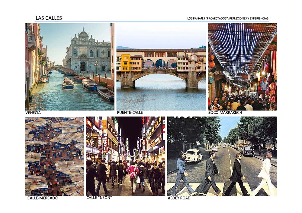 """Figura 12. Los espacios urbanos de calle y sus tipologías. Los otros """"vacíos"""" de la ciudad."""