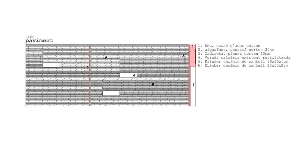 Figura 12. Detalle de la solución de pavimento propuesto.