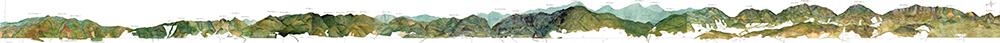 Figura 13. Gran perfil de los cerros elaborado por el grupo de ciudadanos BogotáPintaCerros, entre los cuales tuvieron una participación mayoritaria los miembros de la Fundación Cerros de Bogotá.