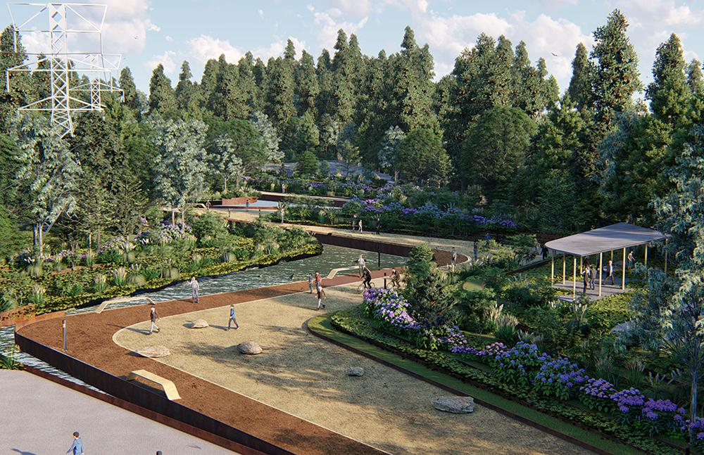 Figura 13. El parque proveera espacios recreativos  y deportivos promoviendo la cultura, el arte y las actividades familiares