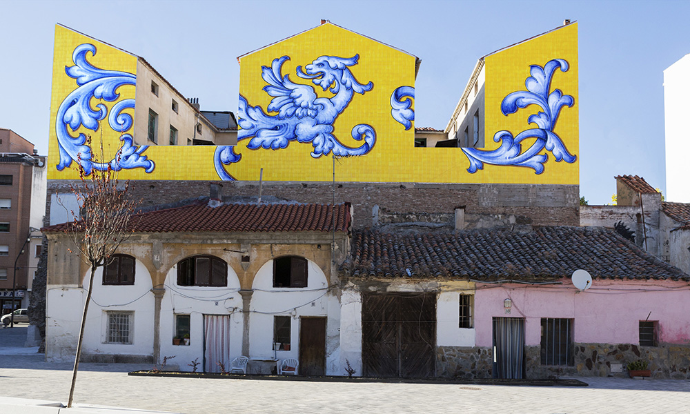 Figura 14: Plaza de San Miguel. Viviendas construidas ocupando restos de la antigua iglesia.