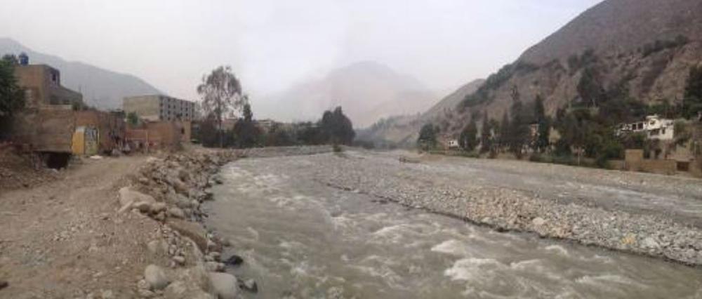 Figura 14. Propuesta río Pimac, vista oeste-este, sector Huampani.