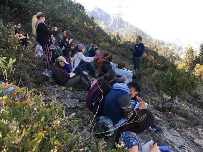 Figura 15. Charlas a la montaña: #Frutalcerro#CatedraPaisajeBogota, todos los viernes en la Reserva Umbral Cultural Horizontes. 2019, Fundación Cerros de Bogotá.