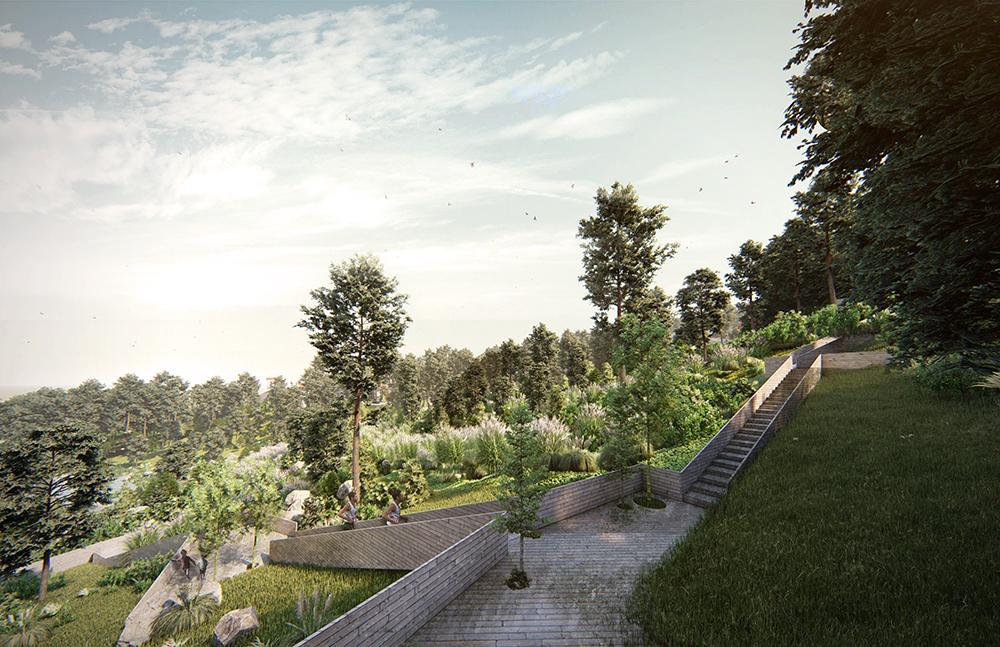 Figura 15: Los andadores generarán un recorrido para dar lugar a las distintas áreas del parque.