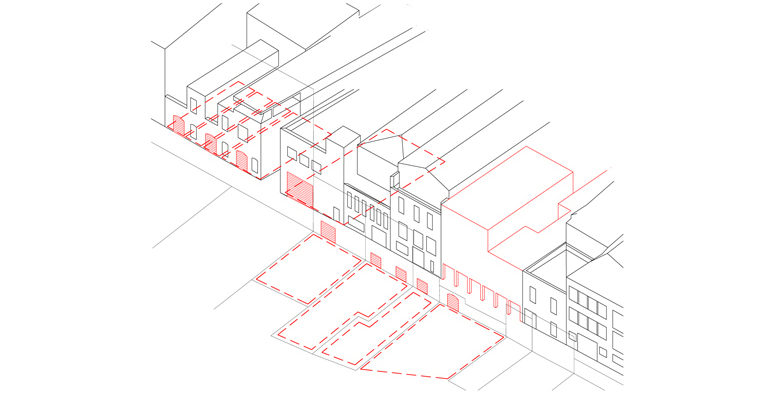 Figura 15: La calle industrial: Activación plantas bajas vacías. La calle productiva.