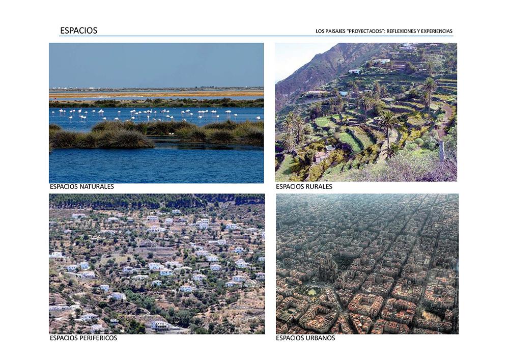 Figura 1. Diferentes percepciones de Paisajes, el medio natural, rural, periurbano y urbano.