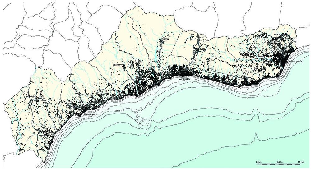 Figura 1. Conurbanización del litoral de la Costa del Sol