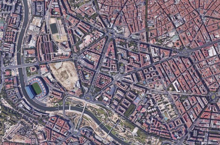 Figura 1. Imagen aérea de 2016 del ámbito de planeamiento