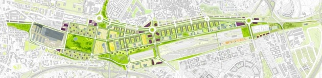 Proyecto de Prolongación del Paseo de la Catellana, 2002-2010. © Ezquiaga Arquitectura, Sociedad y Territorio