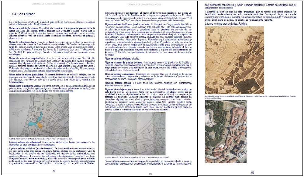 Figura 22. Un ejemplo de ficha de zona (nivel 3): San Esteban.