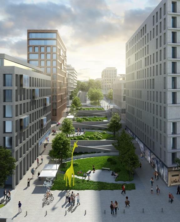 Figura 19. Imagen de la continuidad de la calle Duque de Tovar hacia el centro de la ciudad
