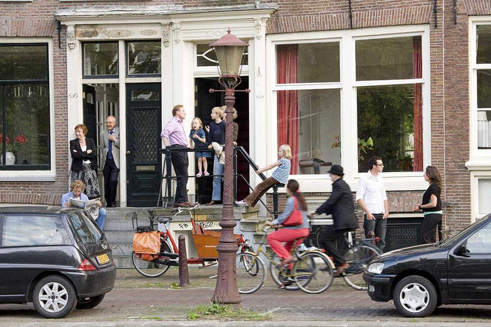 Figuras 28 y 29. Referencia de la zona de margen. Calle en Ámsterdam. Fotos: Reinier Gerritsen.