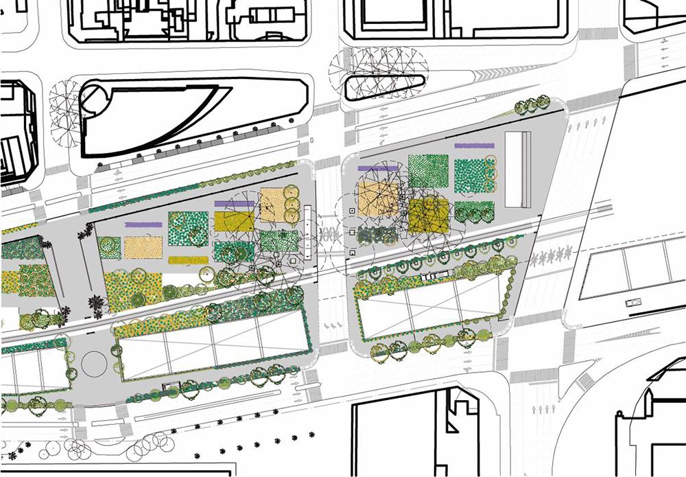 Figura 29. Planta Piso 3: Talleres, restaurantes, áreas comerciales y de servicio.