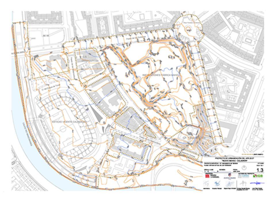 Figura 22. Topografía existente