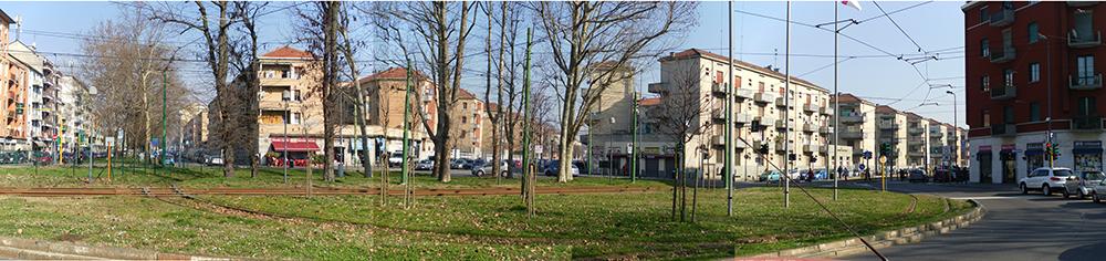 Figura 2. Vista panorámica de la Plaza Tirana en el suroeste del barrio.