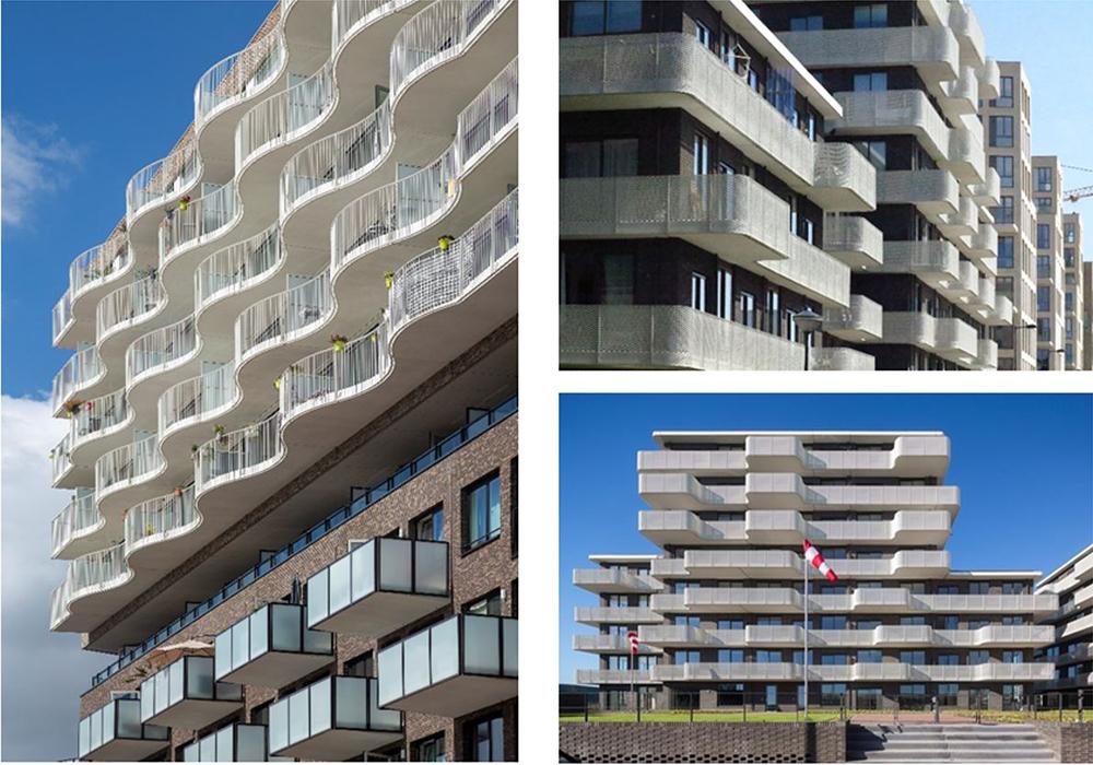 Figuras 30-32. Balcones espaciosos y soleados. De izquierda a derecha, fotos de ATA-Luuk Kramer, Ton van Namen y Rowin Persma – Luuk Kramer.