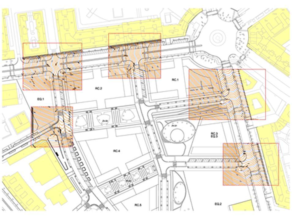Figura 24. Estudio de los cruces entre viarios
