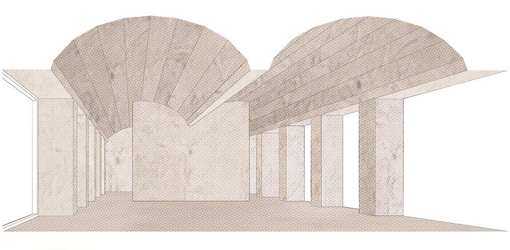 Figura 33: 8 VPO C/Salvador Espriu 37. IBAVI. Bóvedas y muros de piedra de marès.