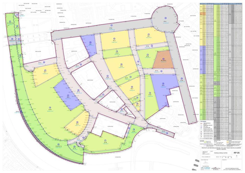 Figura 28. Plano de cada uno de los vértices que componen el conjunto de parcelas resultantes del proceso de reparcelación