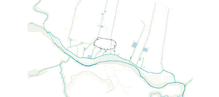 Figura 3: Estrategias. Red de espacios urbanos permeables.