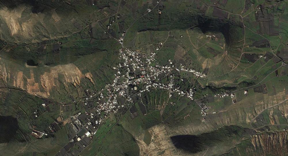 Figura 4. La ortofoto del valle deja entrever la estructura tradicional del asentamiento.