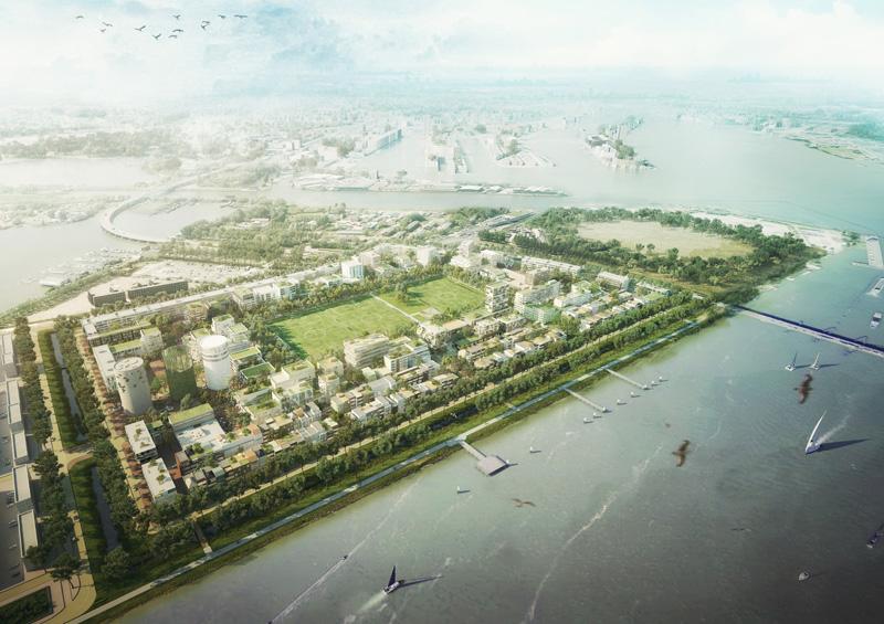 Figura 5. Diseño urbano de Marlies Rohmer. (Masterplan del Ayuntamiento de Ámsterdam)