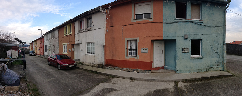 Figura 5. Imagen de la tipología de viviendas en el espacio de intervención.. Fuente: Martín Insua Calvo + José Barreiro Carreño (arquitectos).
