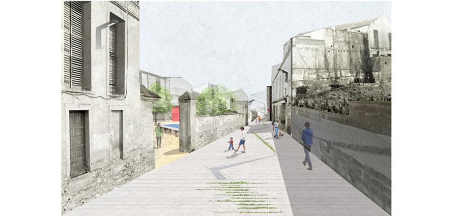 """Figura 6: Vista de la """"Baixada de la Unió""""."""