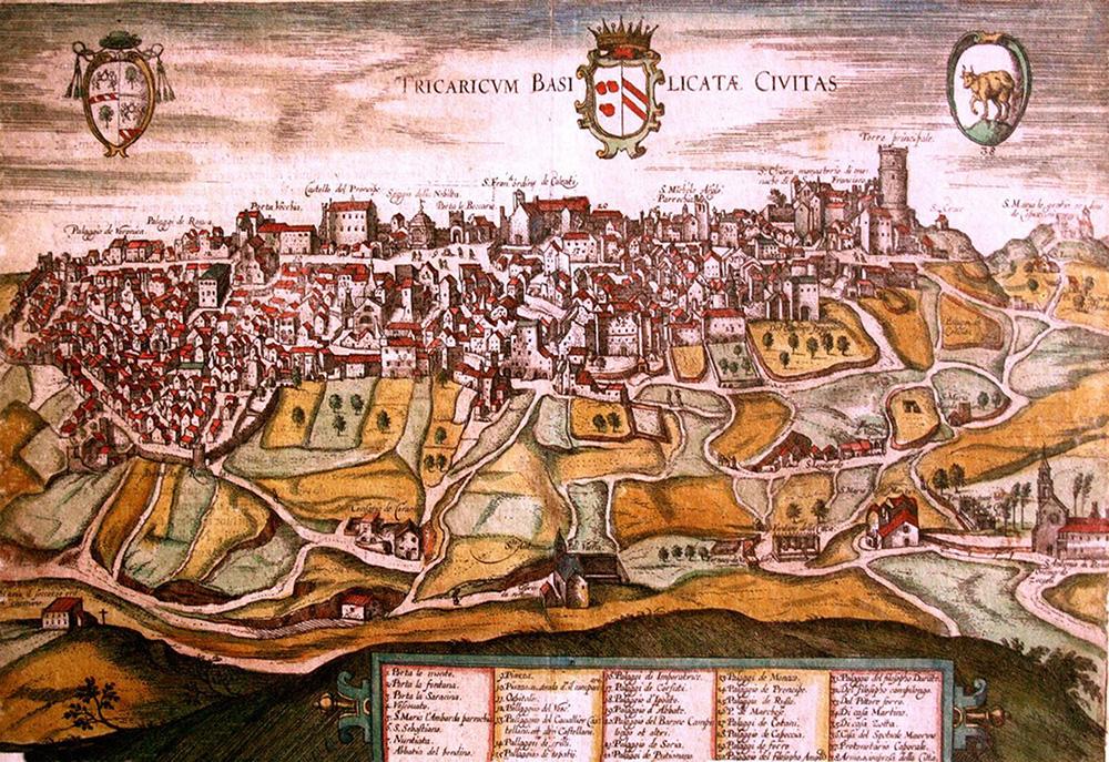Figura 6. Paisaje del valle de Tricarico, aprox. 1600.