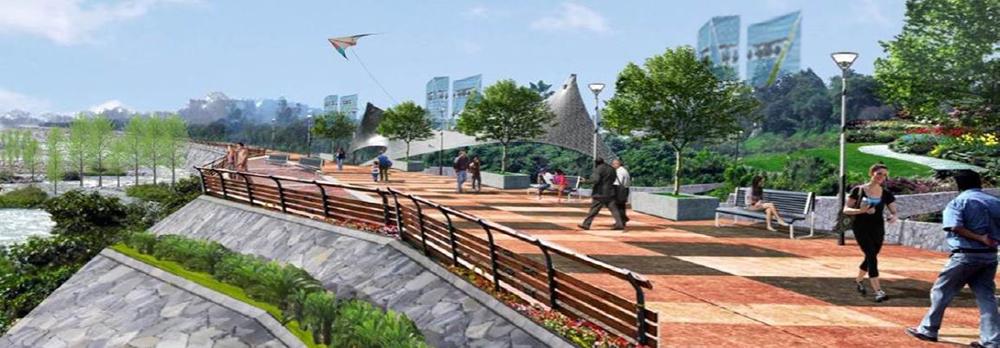 Figura 6. Creación de muros de contención y nuevos espacios públicos.