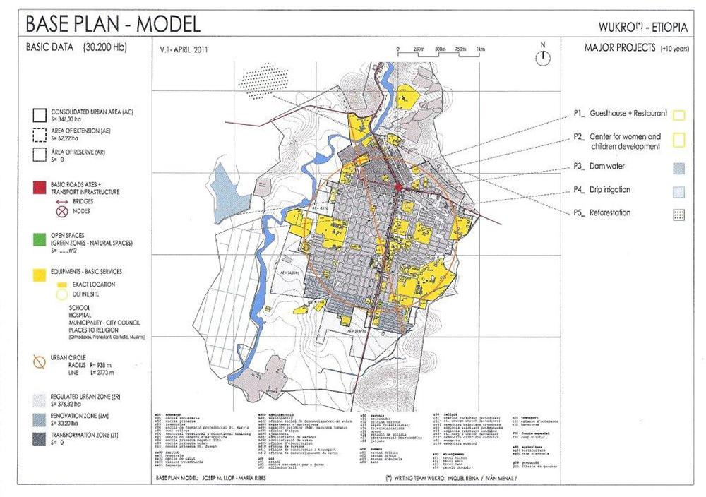 Figura 7. Plan Base Wukro (Etiopía) © J. Llop, Equipo de la ETSAB, de FLS y Ángel Olarán