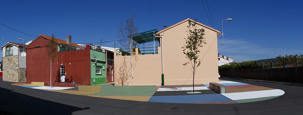 Figura 8. Imagen de un testero de manzana y del patio de viviendas tras la intervención. Fuente: Martín Insua Calvo + José Barreiro Carreño (arquitectos).