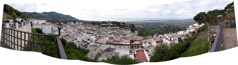 Figura 8. Vista general de Mijas pueblo desde el norte (Carretera de circunvalación), 2014.