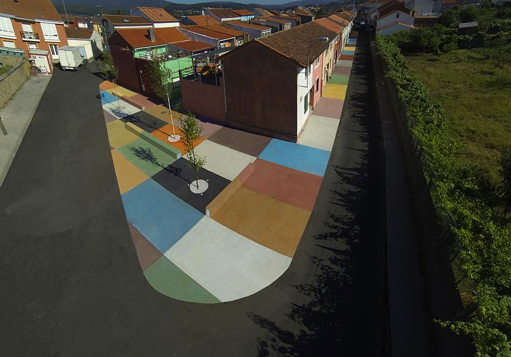 Figura 9. Imagen aérea de la manzana principal donde se desarrolla la actuación. Fuente: Martín Insua Calvo + José Barreiro Carreño (arquitectos)