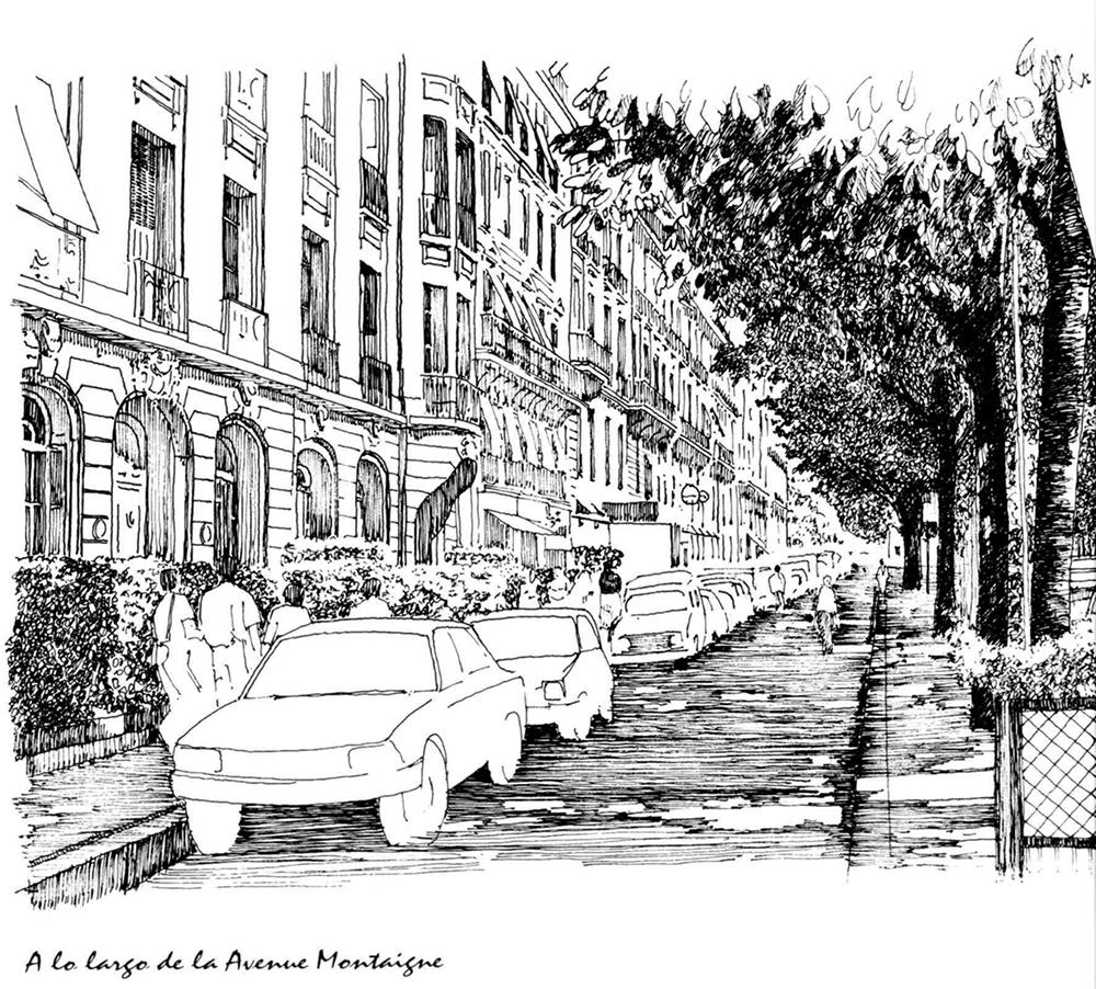 "Figura 6. Ámbito peatonal o ""Pedestrian Realm"". Fuente: Jacobs, Roffe, McDonald, ¨Multiple roadway boulevards"", 1995"