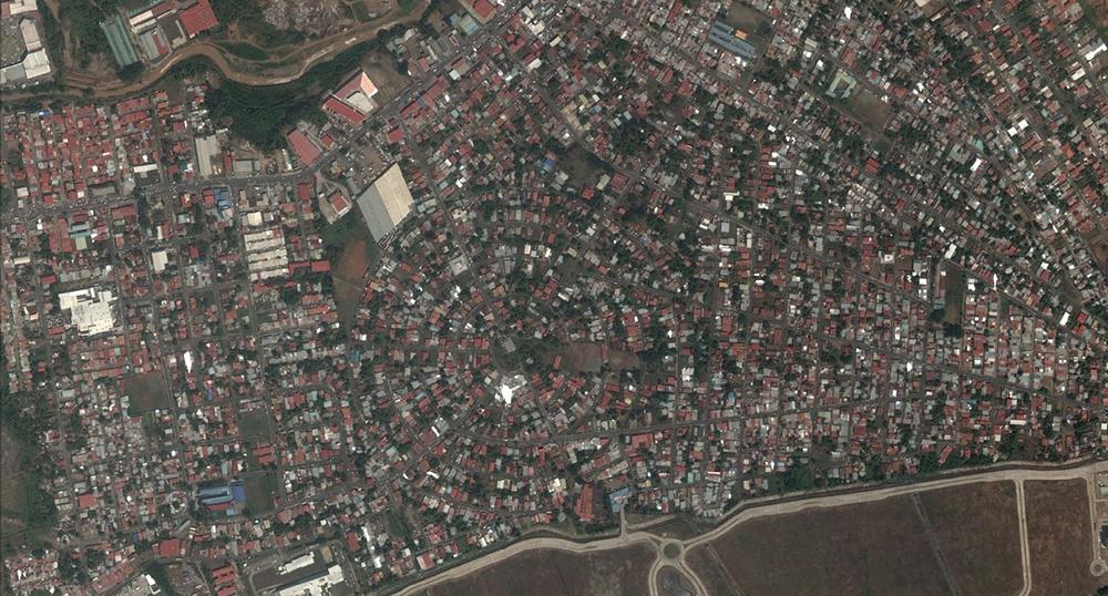 Figura 5. Vista aéra de Ciudad Radial, parte de los asentamientos al este y colindantes con el Corredor Sur. Imágen extraída de Google Earth. Fecha de 23 de Febrero de 2017.