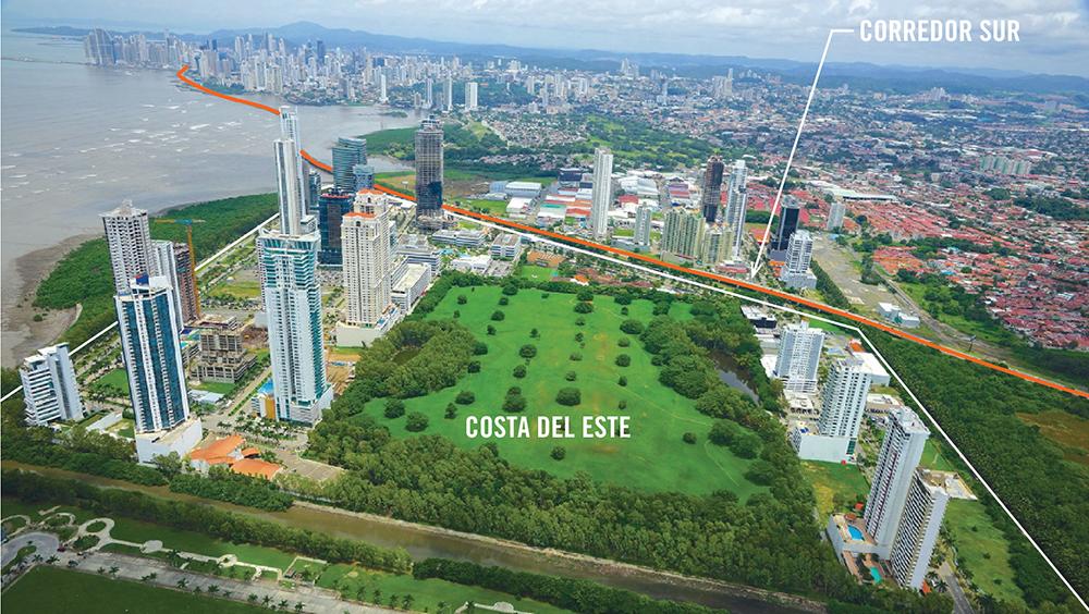 Figura 6. Desarrollo de Costa del Este. Foto aérea de Guru Realty Panama.