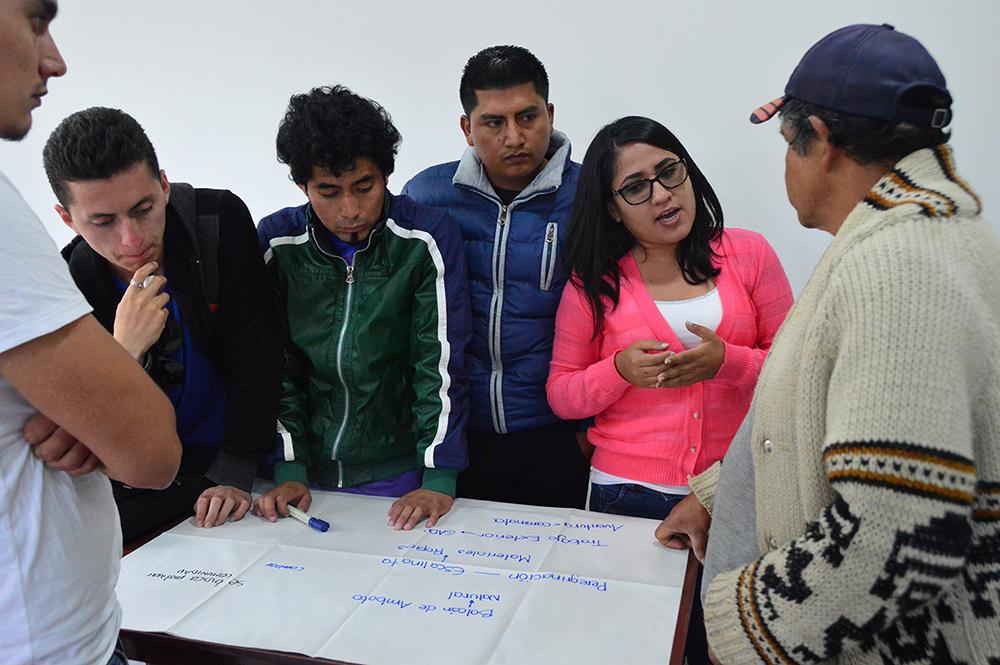 Figura 21. Taller de diseño participativo en Ambatillo.