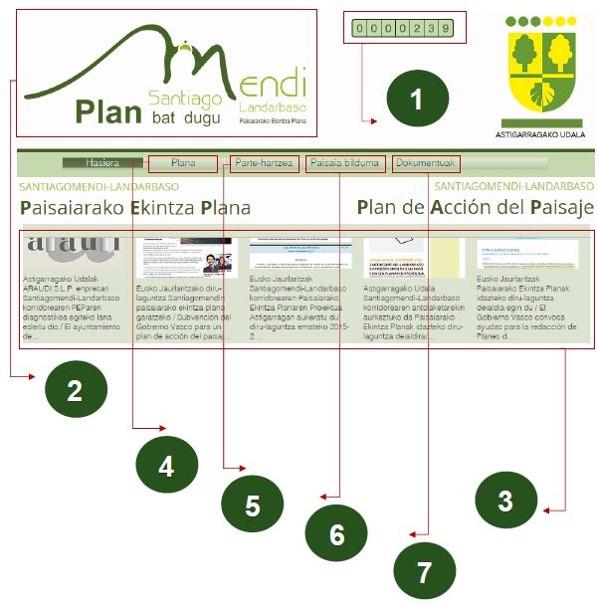 Figura 29: Microsite web del PAP. Elaboración KRIPTA SL y ARAUDI SLP