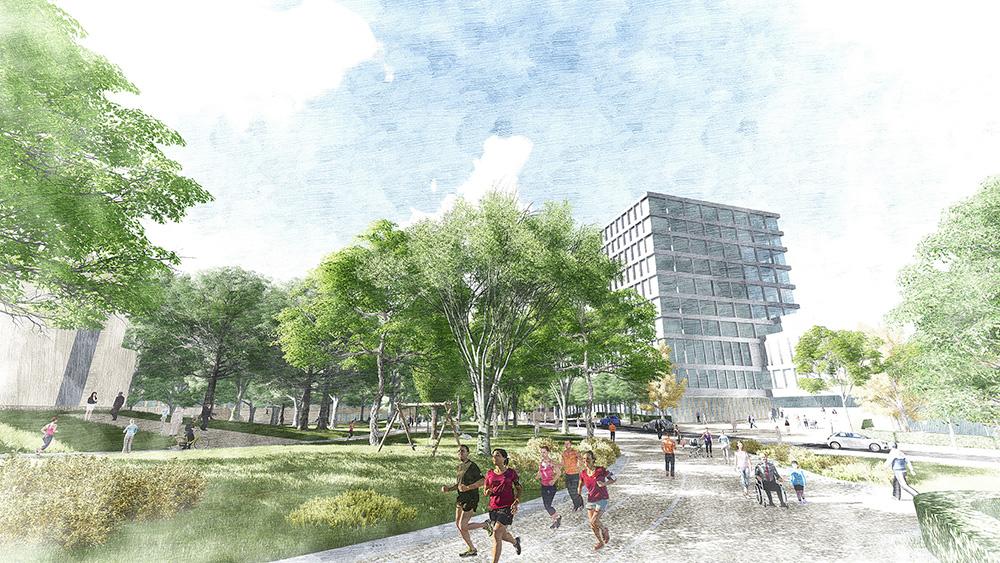 Figura 25. Vista del Bulevar de Buenavista con actividad en las plantas bajas de los edificios residenciales