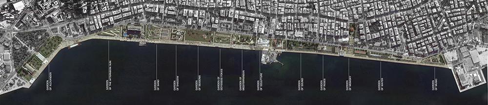 Figura 2. Imagen de Google Earth, tras la finalización del nuevo frente marítimo de Thessaloniki.