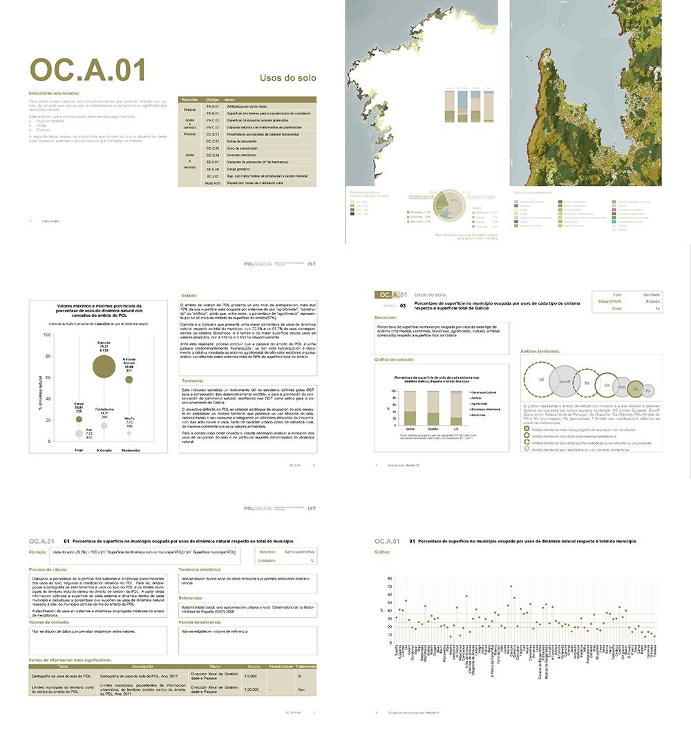 Figura 6. Extracto del cuaderno de un indicador. Fuente: Primer informe de seguimiento de la sostenibilidad territorial de Galicia, 2014.