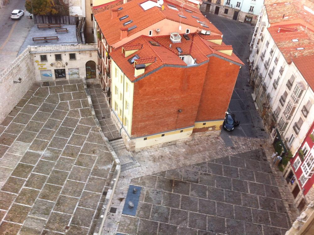 Figura 5: Fotografía actual del espacio de la Llana de Afuera, realizada desde lo alto de la Capilla de los Condestables